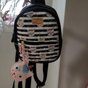 Betsey Johnson cat Unicron mini backpack
